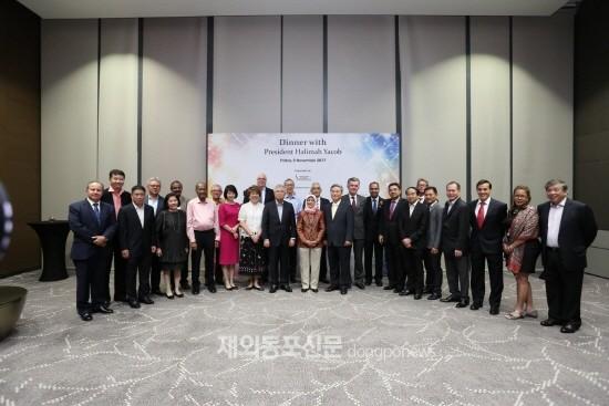 싱가포르한국상공회의소, 야콥 신임 대통령과 간담회
